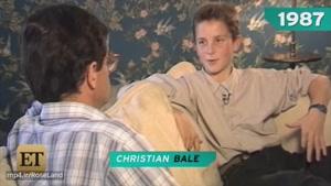 اولین مصاحبه تلویزیونی کریستین بیل وقتی بچه بود