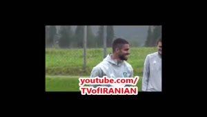 ادا بازی میلاد محمدی در تمرین تیم احمد گروژنی