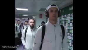 کریستین رونالدو قبل از بازی با رئال بتیس