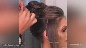 مدل شینیون و رنگ موهای 2018