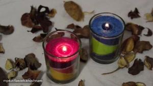 درست کردن شمع های تزیینی