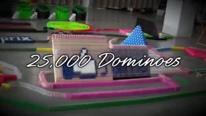 نمایش بسیار زیبا از چیدن ۲۵۰۰۰ تا دومینو !!