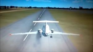 انیمیشن سقوط ناگهانی هواپیما در دریاچه