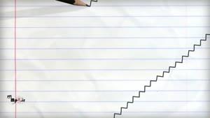 انیمیشن نقاشی با مداد -  پله