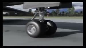 انیمیشن سقوط هواپیما