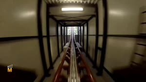 مسیر ترن هوایی در پارک هالیدی آلمان