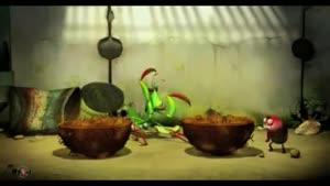 انیمیشن کوتاه و خنده دار کرم ها - ملخ
