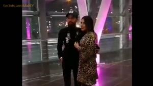 محسن افشانی و همسرش در اکران سریال ساخت ایران ۲