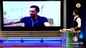 فارسی حرف کردن ژاوی در برنامه «فوتبال ۱۲۰»