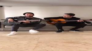 نواختن آهنگ سریال عاشقانه توسط محمدرضا گلزار