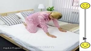 حرکات یوگا در رختخواب