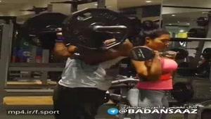 تمرین دونفره ی زوج ورزشکار