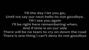 آهنگ It&#۱۴۶s Not Goodbye از Laura Pausini