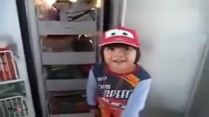 بچه با مزه - پیچوندن بابا ۷.۳۰ صبح :))))