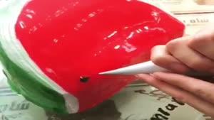 تزیین ژله هندوانه ای