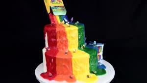 تزیین کیک رنگی