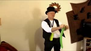 ساخت قورباغه کارتونی با بادکنک