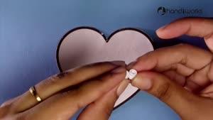 آموزش ساخت جعبه ی کاغذی قلبی