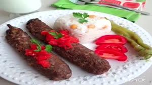 تزیین بادمجان کبابی