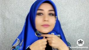 آموزش بستن روسری استایل ترکیه ای شماره ی ۲