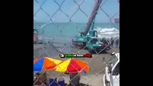 پشت صحنهي سکانس بالن درحال غرق در پايتخت ۵