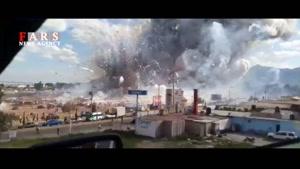 انفجار وحشتناک بازار مواد محترقه