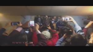 لحظه ورود سید حسن خمینی به تالار وزارت کشور