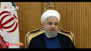 روحانی: بیش از ۱۹۰ کشور نقطه مقابل دو کشور صحبت کردند