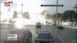 لحظه صاعقه وحشتناک در فلوریدا آمریکا!