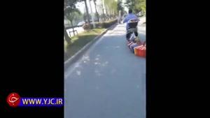 عجیبترین مدل حمل بار با موتور توسط یک زن