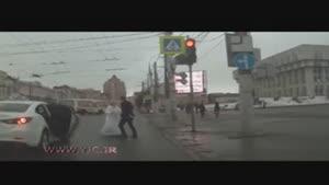 کتک کاری عروس و داماد در خیابان