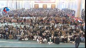 حضور گسترده مردم یمن در مراسم باشکوه تشییع پیکر «صالح الصماد»