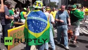 فیلم/ تظاهرات مردم برزیل برای برکناری «روسف»