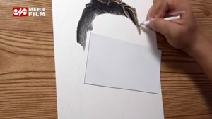 نقاشی زیبای چهره کریستیانو رونالدو با مداد رنگی