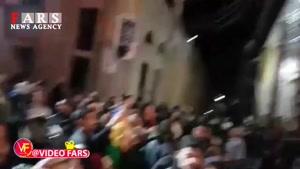 لحظه وقوع زلزله در حرم مطهر امامین عسکریین