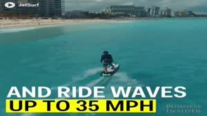 فیلم/ تخته موج سواری موتوردار را ببینید