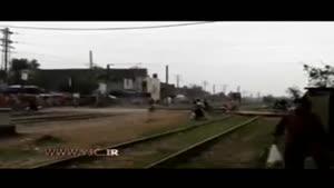 تصادف مرگبار قطار مسافربری با موتور سیکلت