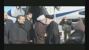 ورود رئيسجمهور به مشهد مقدس