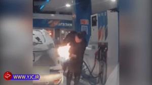اقدام عجیب یک زن در پمپ بنزین