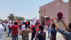 فیلم/تظاهرات ضد رژیم بحرین در منطقه «الدراز»