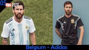پیراهن رسمی تیم های حاضر در جام جهانی ۲۰۱۸
