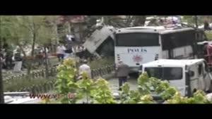 حمله خونین به اتوبوس پلیس