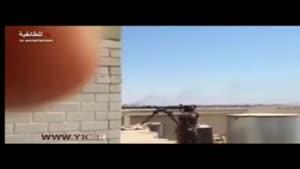 لحظه انهدام خودروی انتحاری توسط رزمندگان مدافع حرم