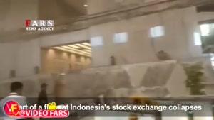 ساختمان بورس اندونزی فروریخت
