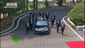 اسکورت عجیب خودروی رهبر کره شمالی