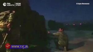 فیلم لحظه نجات دو کودک سوری از مرگ حتمی توسط نیروهای ارتش سوریه