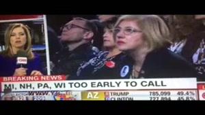 گزارش سی ان ان از محل غم بار سخنرانی كلينتون