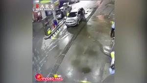 انفجار وحشتناک خودرو در پمپ گاز