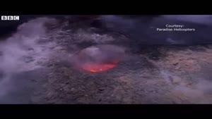 فیلم/ لحظه خندیدن آتشفشان به هنگام فوران