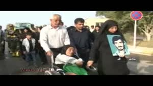 ورود سه شهید دفاع مقدس به بوشهر